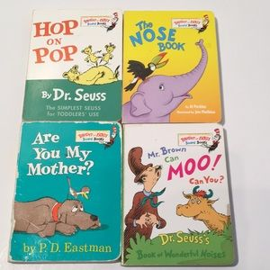"""Dr Seuss BOARD Books for Toddlers 4 pack 5"""" book"""